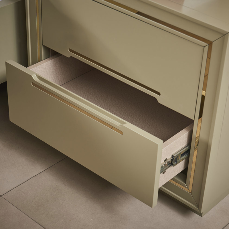Contemporarye Style Luxury Bedroom Furniture (HS-049)