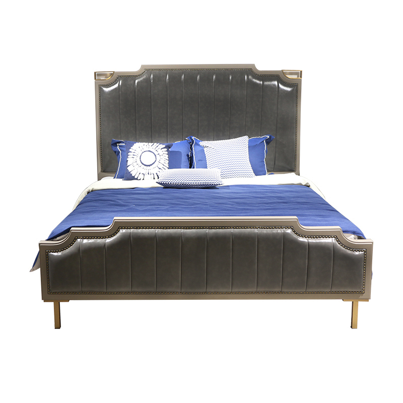 PU Decoration Bedroom Furniture with Metal Base